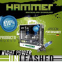Bombillos H1 Hammer Night Power Unleashed 110% Mas Luz