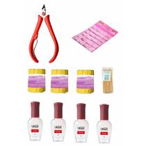 Kit Manicure Alicate Cutícula, Mini Lixas,palitos,strass 3mm