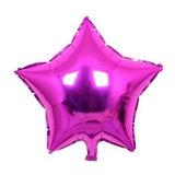 10 Balões Estrela 45cm Metalizado Bola Hélio Gás