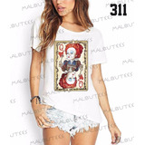 Camiseta T-shirts Feminina Fashion Rainha De Copas