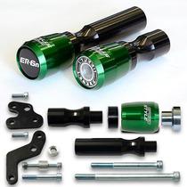 Kit Slider Dianteiro E Traseiro Kawasaki Er6n Er-6n Verde