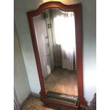 espejo antiguo artesanal de pared muy grande bicelado