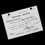 ¬¬ Z3 Licencia Médica Año 1945 San José Ficha Salitrera