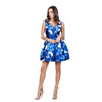 Vestido De Coctel Ark & Co. Con Estampado Floral En Azul