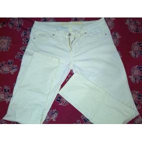 Pantalon Casual Tela Jean Amarillo Para Damas B.b Jeans