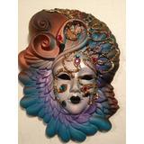 Máscara Veneciana Auténtica Venecia Arte