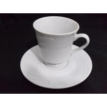 Xícaras Waves Em Porcelana Schmidt Branca Com Pés Para Chá