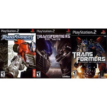Transformers The Game Para Playstation 2 (kit 3 Jogos Ps2