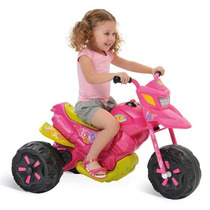 Moto Elétrica Infantil Xt3 Fashion Rosa 6v 2701 Bandeirante