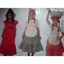 Disfraz De Dama Antigua,paisana ,caballero,gaucho,negrita