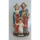 Imagem Santos Católicos - Resina Sagrada Familia 20 Cm
