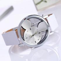Hermoso Reloj Mickey Mouse Plateado! Envio Gratis