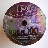 Dvd+r Ipc Premium 16x 4.7gb Virgen Bulk De 100