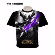 Lol League Of Legendes Camisas Camisetas Preta Ultra Stamp