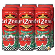 Arizona Watermelon Suco De Melancia - Kit 06 Unidades 340ml