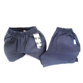 Short Nene Colegial Gabardina Azul/ Blanco Talles 2 A 16