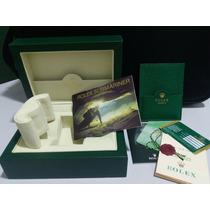 Caixa 0334 Box Estojo Rolex Submariner Manual Medalha +frete