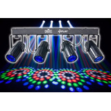 Double Quad Derby Multi Raio De Sol De Leds Festa Dj 4 Play