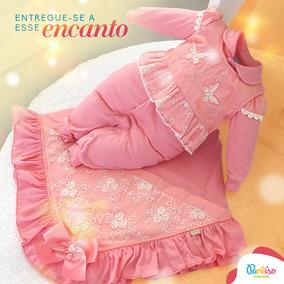 Kit Saida De Maternidade Paraiso Bebê Menina Coral Ref 6638