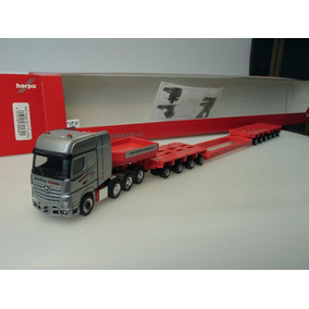 Trailer Mercedes Benz Actros 11 Giga Low Boy 1:87 Ho Herpa