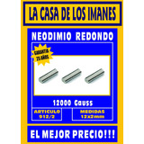 Neodimio 12 X 2 Mm - Imanes Super Potentes