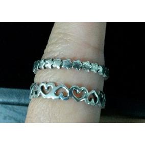 4 Anel Prata 925 Estrela, Coração, Aliança Coroa De Princes