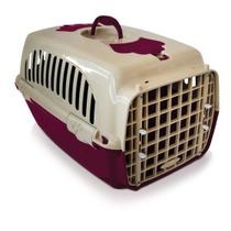 Caixa Transporte N2 Cor Vinho Cachorro E Gato Pequeno Porte