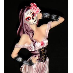Catrina Mujer Con Disfraz Día De Muertos Calaca Decoración
