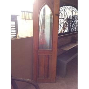 Puertas Gemelas De Vidrio Antiguo Viselado Madera De Pino