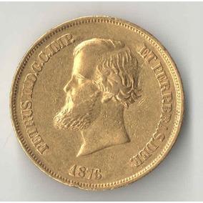 10 Mil Reis 1876 Ouro 8,96 Gramas Mbc+ Apenas 19.602 Peças