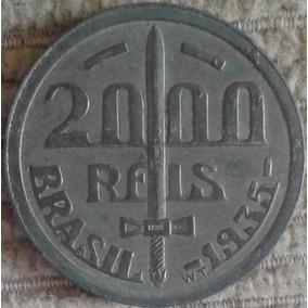 Rara 1935 - 2000 Reis Reverso A Cara Do Caxias - Prata Fc 1