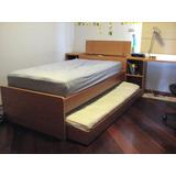 Juego Cuarto Ind+cama Adicl+2colch+escritorio+muebletv+baúl