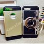 Capinha Capa Case Iphone 7 Plus Maquina Fotografica Gold