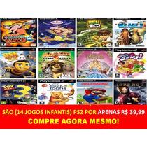 Ben 10 Para Playstation 2 Infantis (14 Jogos Ps2 Criança