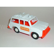 Ambulancia Rescue Van Tootsietoy Metal Plástico 1 Calcomanía