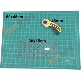 Kit Base De Corte 60x45cm Régua 15x30cm Cortador Patchwork