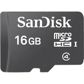 Memoria Micro Sd Hc I Sandisk 16gb Con Protector Plástico