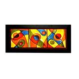 Cuadro Tríptico Abstracto Ml 47x94x1.5 Wengue