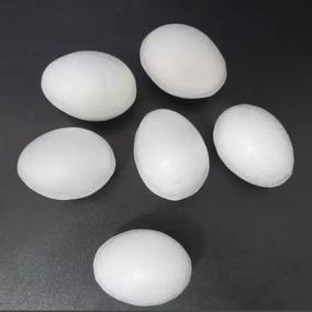 18 Ovo De Isopor Maciço Galinha Decoração 6,2cm X 4,2cm