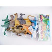 Dinossauros Borracha Miniatura Kit 6 Sacolas Preço Atacado