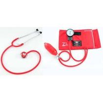 Kit Esfigmomanômetro + Estetoscopio Dupl Vermelho Bic Cj0730