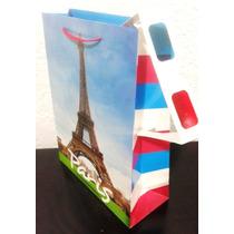 Bolsa De Regalo Paris Con Lentes 3d Torre Eiffel