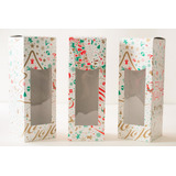 Cajas Para Budín Navideño 8,5 X 8,5 X 24 Cm. (x 50 Unidades)