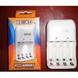 Cargador De Baterias Aa Y Aaa De 4 Baterías Marca Keyko