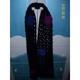 Bufanda Tejida Al Crochet Con Flores