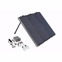 Panel Solar 45w Con Accesorios Visualizados En Fotos