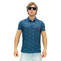 Camisa Polo Maresia Texture Blue
