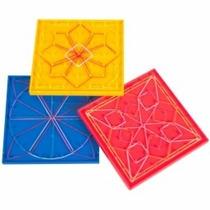 Juego Con Ligas Geoplano,crea Figuras Geometricas.