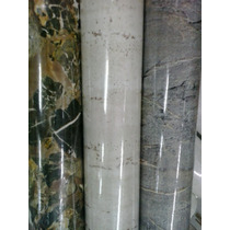 Plástico Adesivo Mármore Branco Preto Granito -15 M X 45 Cm