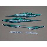 Kit Adesivos Honda Cg Titan 125 Es 2003 Verde